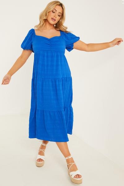 Curve Blue Midi Dress